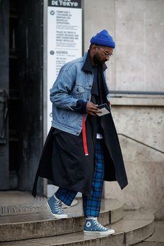 Paris Fashion Week Mens Street Style - Paris Fashion We Best Mens Fashion, Look Fashion, Urban Fashion, Trendy Fashion, Fashion Design, Fashion Styles, Trendy Clothing, Apparel Clothing, Fashion Ideas