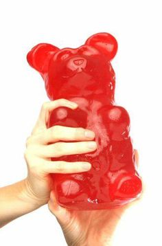 Giant Gummy Bear 5 Pounds  http://www.lovedesigncreate.com/giant-gummy-bear-5-pounds-cherry-flavored-giant-gummy-bear/