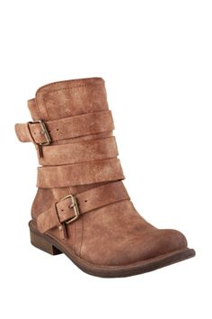 Flat heel, rugged ankle boots for uninhibited play