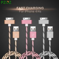 Mobile Phone Cables 2  PZOZ For iphone 4 Cable 30 pin Charger Adapter Original USB Cabel Fast Charger For iphone 4s  iphone 4 s iphone 3GS iPad 2 3 *** AliExpress Affiliate's Pin. Clicking on the VISIT button will lead you to find similar product