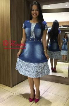 Jeans Dress, Dress Skirt, Denim Frocks, Dressy Outfits, Girl Outfits, Day Dresses, Short Dresses, African Traditional Dresses, Denim Ideas