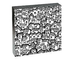 Quadro Cidades de Nanquim Vitta - 20x20cm
