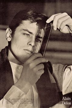 ALAIN DELON 1960's Iconic French actor heart-throb, looking at film…