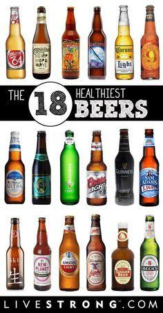 18 Healthy Beers                                                       …  #craftbeer #beer