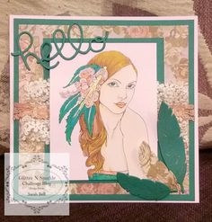 Glitter 'N' Sparkle Anything Goes Dt Card by Sarah Bell ussing Morgan's Artworld Digi Stamp