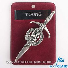 Young Clan Crest Kilt Pin