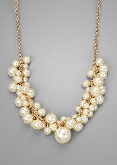 ideeli | LOLITA Faux Pearl Cluster Necklace
