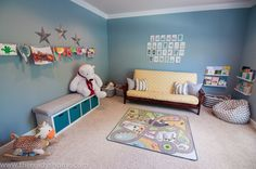 We moved into a house with a formal living room on the main floor that we turned into a playroom for our son.