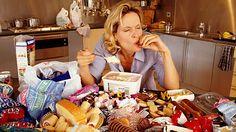 Problemas en la alimentación como inapetencia y pérdida de peso o consumo exagerado de alimentos y aumento de peso.