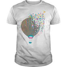 Coloring hot-air balloon - Tshirt