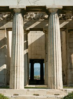 Temple of Hephaestus - Detail of central aisle