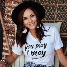 Football Mom Shirt | You Play I Pray  Sports Mom  #Regram via @CEKIpqXhgAz Volleyball Mom Shirts, Sports Mom Shirts, T Shirts For Women, Baseball Mom, Football, Along The Way, Mom And Dad, Pray, Cricut