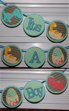 Dinosaur  It's A Boy Baby Shower Banner  READY by APaperPlayground, $18.50