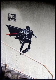 a little bit on the awesome side, Daily Graffiti: Come To The Dark Slide Everything...