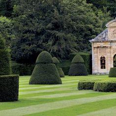 Valentino Garavani's garden near Paris.