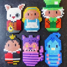 Alice in Wonderland hama perler beads by Alice Oppenheim Hama Beads Disney, Diy Perler Beads, Perler Bead Art, Pearler Beads, Fuse Beads, Melty Bead Patterns, Pearler Bead Patterns, Perler Patterns, Beading Patterns