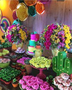 Uma festa bem colorida, estilo mexicano @georgiafestas . …