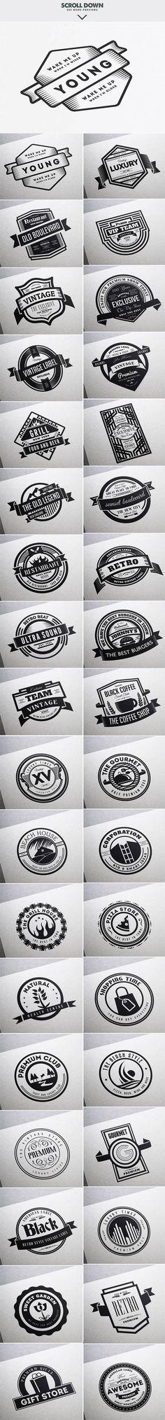 MEGA BUNDLE 1100 Logos & Badges - 19