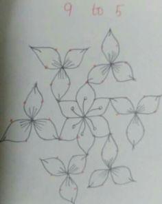 Rangoli Border Designs, Small Rangoli Design, Rangoli Designs Images, Rangoli Designs With Dots, Rangoli With Dots, Beautiful Rangoli Designs, Lotus Rangoli, Kolam Rangoli, Flower Rangoli