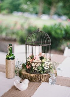 Wedding Centerpieces. #birdcage