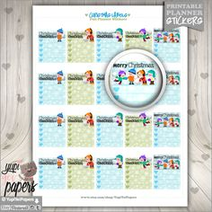 Christmas Stickers, Planner Stickers, Christmas Checklist, Christmas Boxes, Christmas Stamp, Printable Planner Stickers, Planner Accessories
