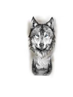 Wolf Tattoos Men, Small Wolf Tattoo, Hand Tattoos For Guys, Small Tattoos For Guys, Family Tattoo Designs, Family Tattoos, New Tattoos, Wolf Tattoo Sleeve, Sleeve Tattoos
