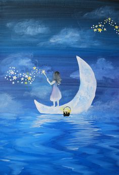 Cute Wallpaper Backgrounds, Cute Wallpapers, Systems Art, Good Night Moon, Love Illustration, Beautiful Moon, Moon Art, Pics Art, Anime Art Girl