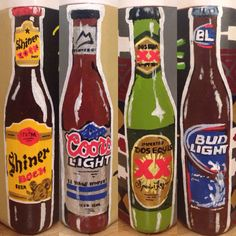 beer bottle corners for a fraternity cooler instead of bow ties... #cooler #frat…
