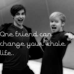 Sam and Colby // One friend can change your whole life.
