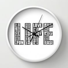 Life Wall Clock by Law of Attraction Art