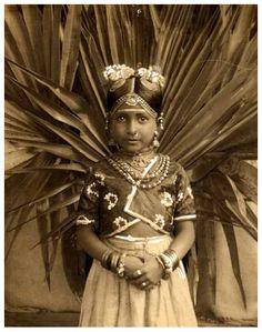 Portrait of a bride, India, Ceylon - c1920