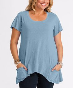 This Misty Blue Twin Peaks Top - Plus is perfect! #zulilyfinds