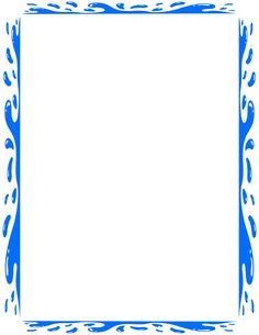 splashy water border page blue page_framessplashy_water_border_page_blue