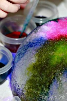 Watercolor and salt ice art - explore the science of watercolors and salt and make beautiful sculptures.  Open ended process art, fun for all ages!