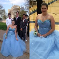 New Arrival Blue Crystal and Beaded Prom Dress,Ball Gown Prom Dresses,Tulle Prom Gown,Formal Evening Dress by fancygirldress, $199.00 USD