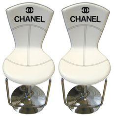 Pair Vintage Chanel Bar Stools. So fabulous!