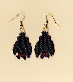 Halloween – Earrings Bat — Crafthubs