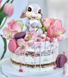 Bunny cake - Cake Art ۰❀۰ ະ✧MadnessintheMethod✧ະ cake art cupcake art Pretty Cakes, Cute Cakes, Beautiful Cakes, Amazing Cakes, Easter Bunny Cake, Bunny Cakes, Rabbit Cake, Baby Birthday Cakes, Crazy Cakes