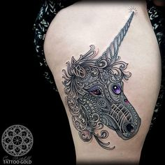Mosaic Unicorn http://tattooideas247.com/mosaic-unicorn/