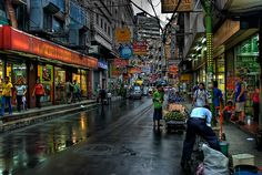 Ongpin Street, Manila, Philippines by Dave Wood Liverpool Images.