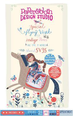 paper and cloth design studio eflyer - exhibiting at indigo, paris x