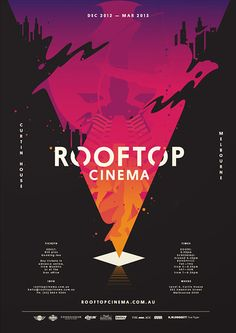 Design Rooftop Cinema Graphic Typography images on Designspiration Flyer Design, Event Poster Design, Poster Design Inspiration, Graphic Design Posters, Graphic Design Illustration, Digital Illustration, Typography Images, Typography Design, Logo Design
