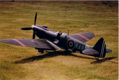 RC Spitfire model, portraying Rolf Arne Bergs personal Spitfire IX PV181. Model by Thorstein Pedersen.