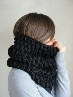 Black Soft Scarf Women And Men Scarf Circle Scarf Neckwarmer Accessories Cowl men Scarf Fashion on Etsy, Sold