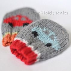 Check out Little Pickle Knits Little Cars Baby Mitts PDF at WEBS | Yarn.com.