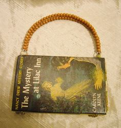 love this! a purse made of a vintage Nancy Drew!