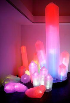 Sculpture by Sylvie Fleury. #art #sculpture #light #colors