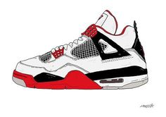 Air Jordan 4  - by Nick cocozza #sneakers #design