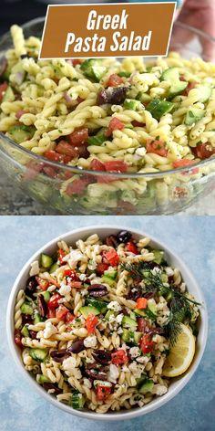 Healthy Salad Recipes, Vegetarian Recipes, Cooking Recipes, Vegetarian Pasta Salad, Mexican Salad Recipes, Healthy Pasta Salad, Side Salad Recipes, Best Pasta Salad, Chopped Salad Recipes