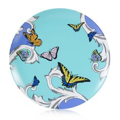 Colorful Melamine Dinner Plate by plateshoppe.com. Dishwasher safe not for microwave use  sc 1 st  Pinterest & Butterfly dinner plate made of break resistant melamine by ...